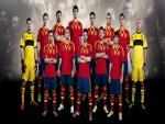 La Selección Española posando para la foto
