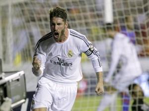 Postal: Sergio Ramos en un partido con el Real Madrid