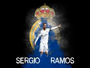 Sergio Ramos y el escudo del Real Madrid