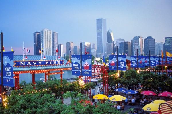 Navy Pier y los edificios de Chicago