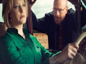 Postal: Walter y Skyler, personajes de Breaking Bad