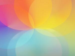 Postal: Círculos de color