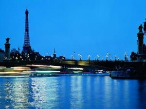 Anochecer azul en París