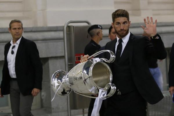 Sergio Ramos con la décima Copa de Europa