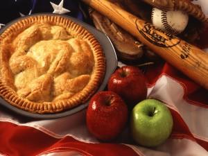 Pie de manzana americano