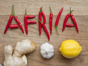 Postal: África con chiles