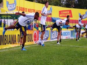 Postal: Entrenamiento de la Selección Colombiana