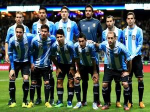Jugadores de la Selección Argentina posando para la foto