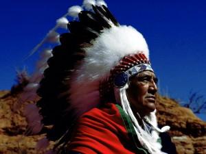 Postal: Un jefe Indio