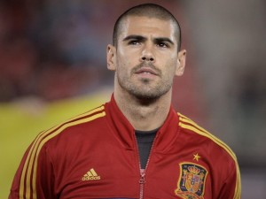 Postal: Víctor Valdés, con la Selección Española