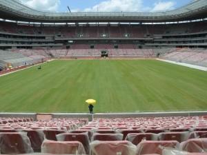 Gradas y campo de juego del: Estadio Arena Pernambuco (Recife)