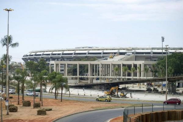 Obras en el Estadio de Maracaná (Río de Janeiro, Brasil)