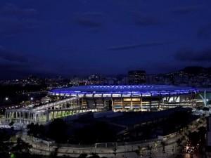 Postal: Noche en el estadio de Maracaná, Río de Janeiro (Brasil)