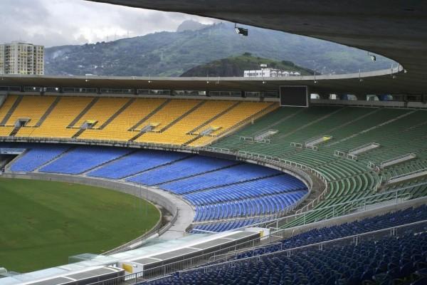 Gradas en el Estadio de Maracaná (Río de Janeiro, Brasil)