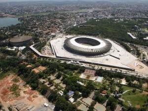 Vista aérea del Estadio Mineirao (Belo Horizonte)