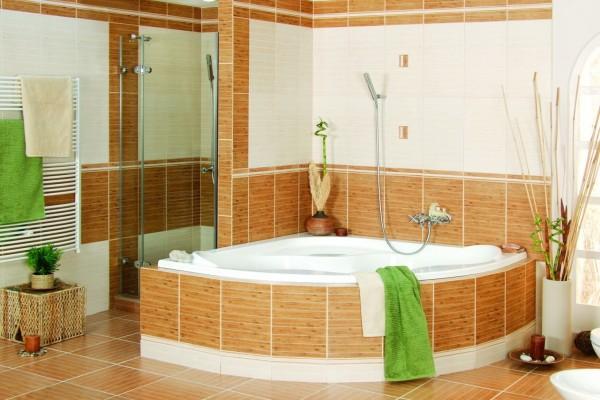 Elegante cuarto de baño con jacuzzi