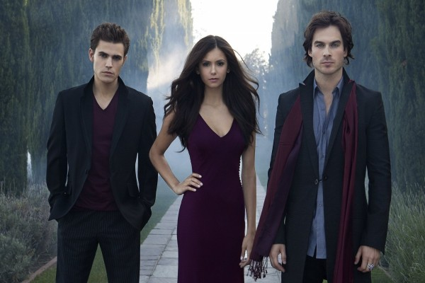"Damon, Elena y Stefan ""The Vampire Diaries"""