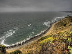 Postal: El mar un día gris