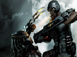 "Predator luchando ""Aliens versus Predator"""