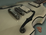 Guitarra eléctrica y púas
