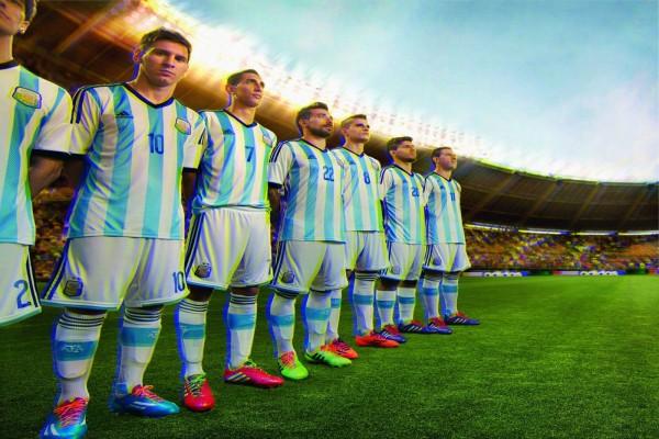 Los jugadores de la Selección Argentina sobre el césped