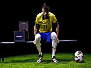 Neymar, jugador de la Selección Brasileña