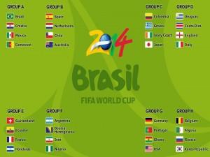 Postal: Los ocho grupos para el Mundial Brasil 2014