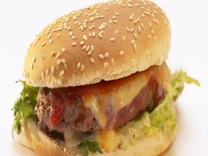 Postal: Una hamburguesa