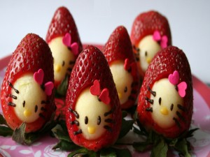 Fresas Hello Kitty