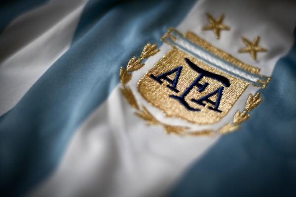 Escudo en la camiseta de la Selección Argentina