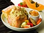Lomo de salmón con verduras