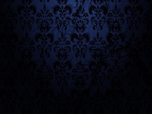 Dibujo floral en una superficie oscura