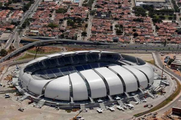 Vista exterior del estadio Arena das Dunas, Natal (Brasil)