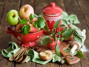 Postal: Manzanas para preparar una tarta