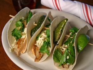 Brocheta de tacos