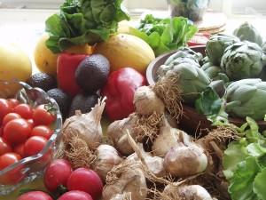 Ajos, alcachofas y otras verduras