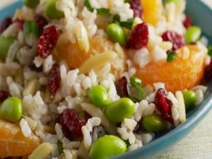 Ensalada de arroz con mandarina