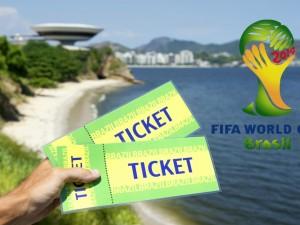 Postal: Dos tickets para el Mundial 2014