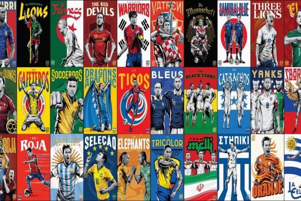 Selecciones de fútbol en Brasil 2014