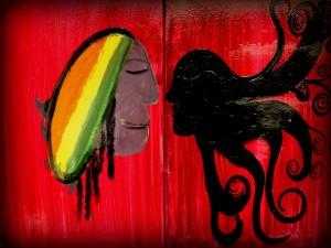 Postal: Pintura rastafari