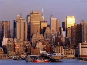 Postal: Amanecer en Nueva York