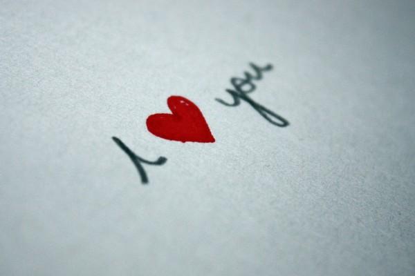 Mensaje de amor escrito