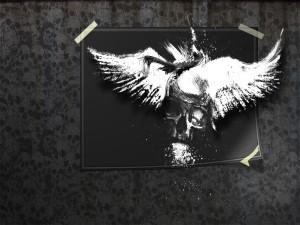 Alas de ángel y calavera