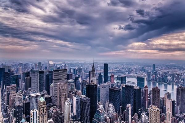 Vista parcial de la ciudad de Nueva York