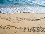 Mensaje en la arena de la playa