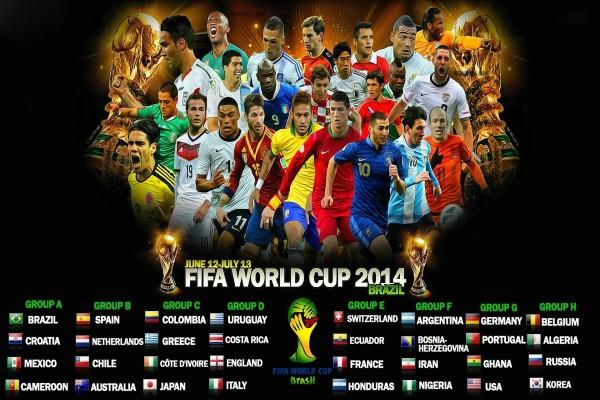 """Grupos de juego en la """"Copa del Mundo Brasil 2014"""""""