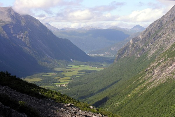 Bello paisaje en Noruega