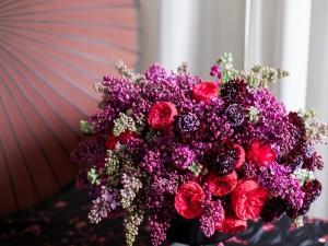 Postal: Delicado ramo de flores