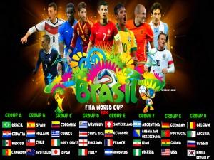 Postal: Grupos del Mundial de Fútbol 2014 Brasil