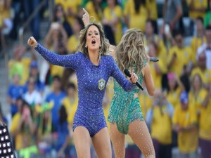 "Claudia Leitte y Jennifer López ""Ceremonia de Inauguración Brasil 2014"""